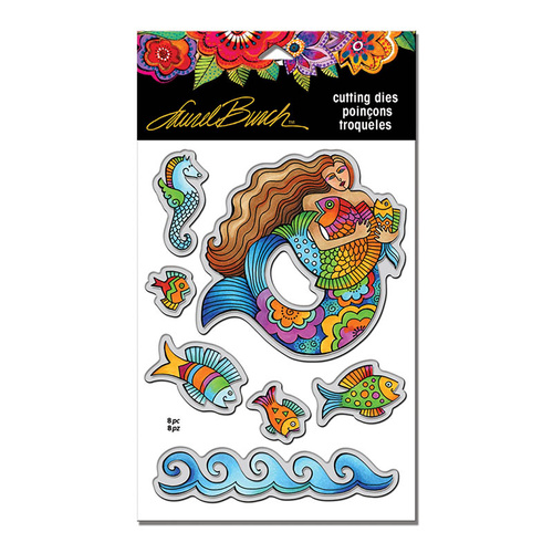Stampendous Die Mermaid Fish by Laurel Burch