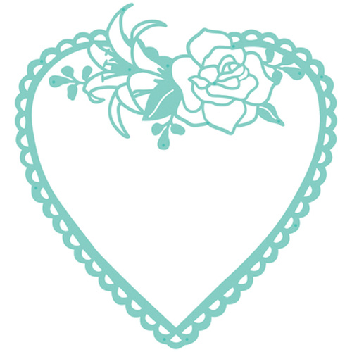 Kaisercraft Decorative Die Flora Heart Frame