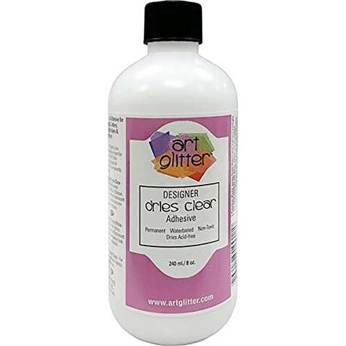 Art Institute Glitter Designer Dries Clear Adhesive Glue 8oz