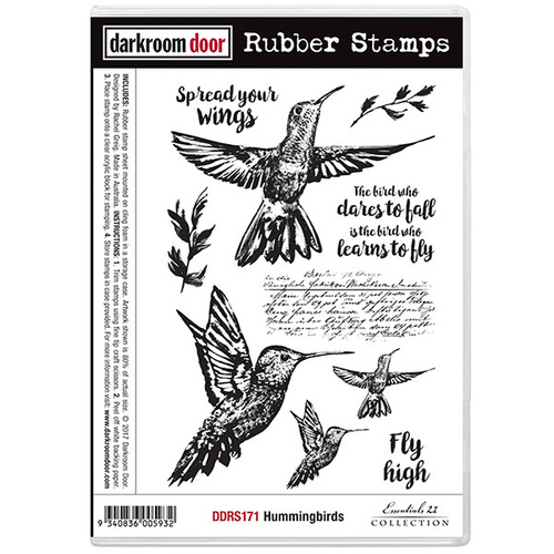 Darkroom Door Rubber Stamp Set Hummingbirds