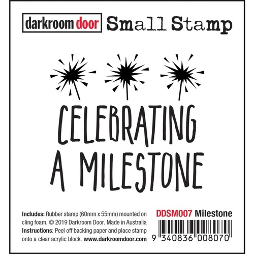 Darkroom Door Small Stamp Milestone