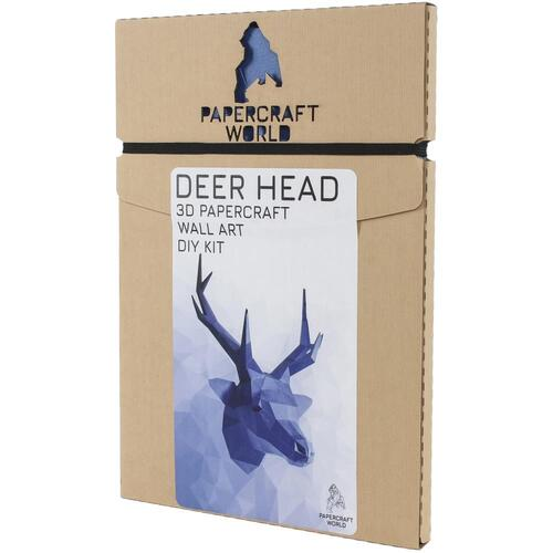 Papercraft World 3D Deer Head Papercraft Wall Art