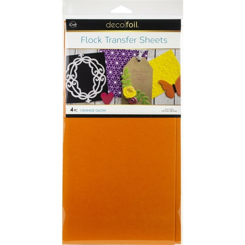 Thermoweb iCraft Deco Foil Transfer Sheet Orange Glow