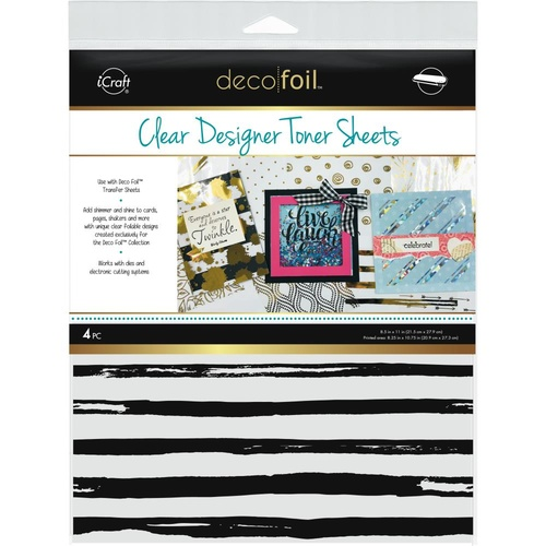"Thermoweb iCraft Deco Foil Toner Sheet Distressed Lines 8.5x11"" 4pk"