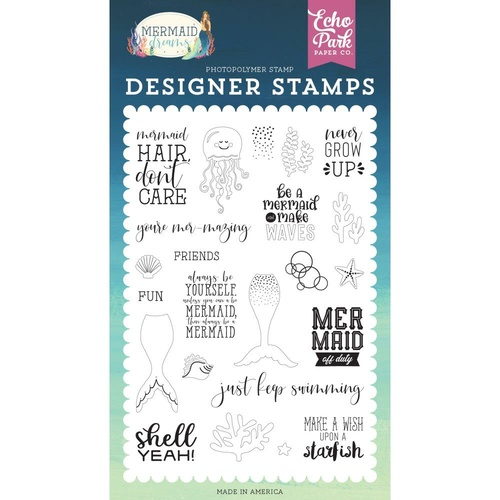 Echo Park Mermaid Dreams Stamp Be a Mermaid