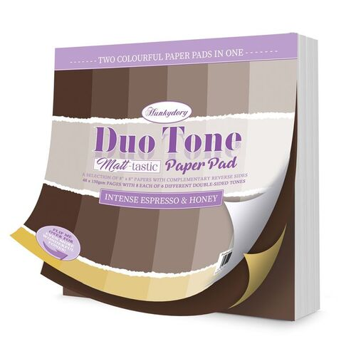 Hunkydory Duo Tone Paper Pad Intense Espresso & Honey