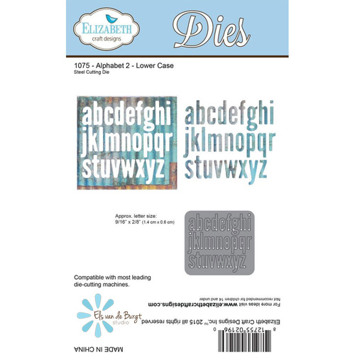 Elizabeth Craft Designs Die Alphabet Lower Case 2 by Els van de Burgt Studio