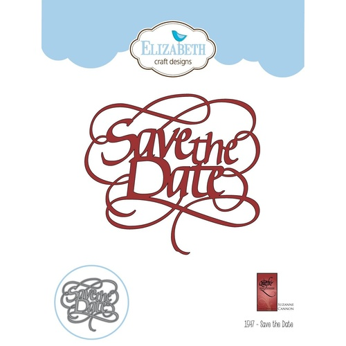 Elizabeth Craft Designs A Way with Words Die Save the Date