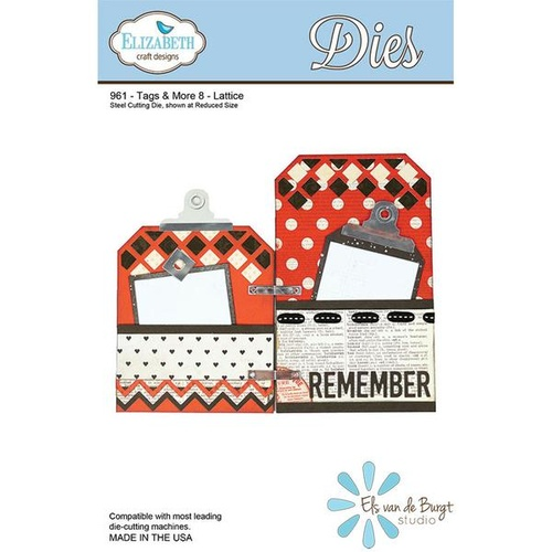 Elizabeth Craft Designs Die Tags & More #8 Lattice by Els van de Burgt Studio