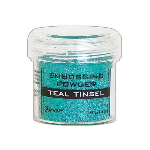 Ranger Embossing Powder Teal Tinsel
