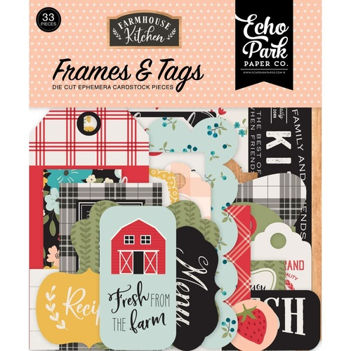 Echo Park Farmhouse Kitchen Cardstock Ephemera Frames and Tags