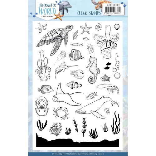 Amy Design Underwater World Stamp