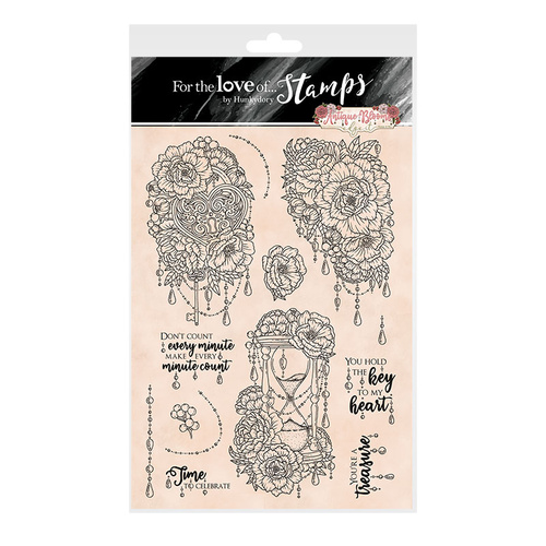 Hunkydory For the Love of Stamps Antique Blooms Edge It