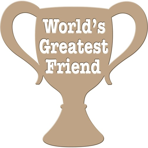 Spellbinders Glimmer Impression Hotfoil Plate World's Greatest Friend
