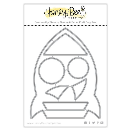 Honey Bee Cuts Die Rocket Ship Card Base