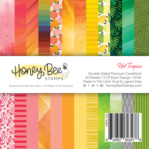 "Honey Bee 6"" Paper Pad Hot Tropics"