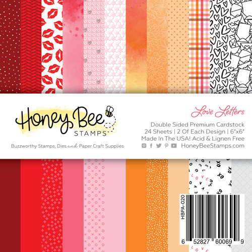 Honey Bee Love Letters Paper Pad 6x6""