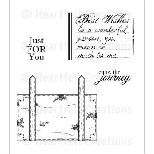 Heartfelt Creations Stamp Set Luggage & Sentiments