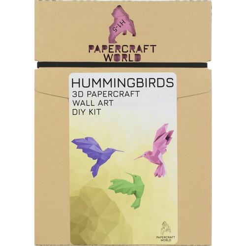 Papercraft World Hummingbirds 3D Papercraft Wall Art