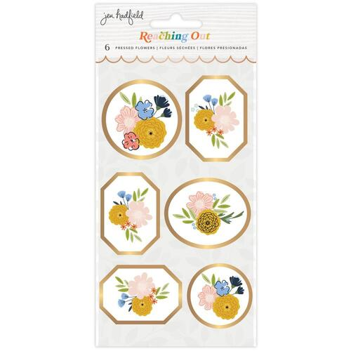 Jen Hadfield Reaching Out Pressed Flowers Dimensional Stickers