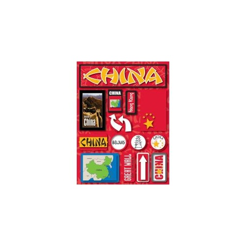 Reminisce Jet Setters Dimensional Stickers China
