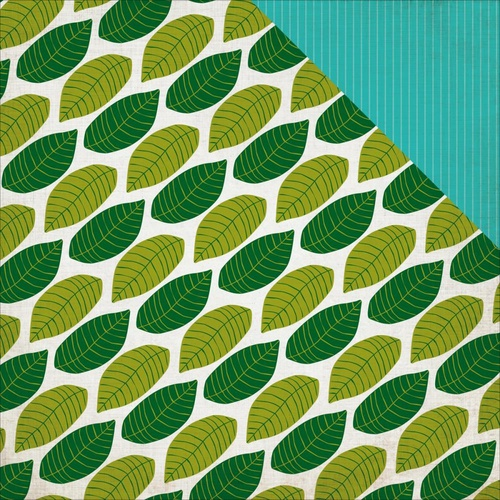 "Echo Park 12x12"" Double Sided Cardstock Jungle Safari Canopy Leaves"