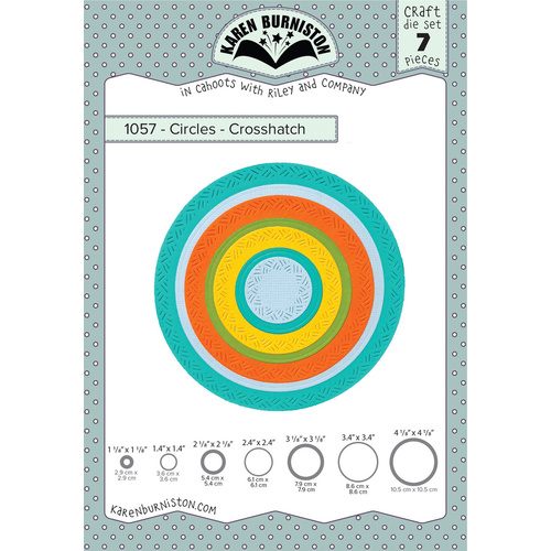 Karen Burniston Die Crosshatch Circles 7pc