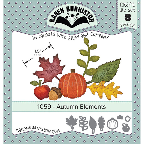 Karen Burniston Die Autumn Elements