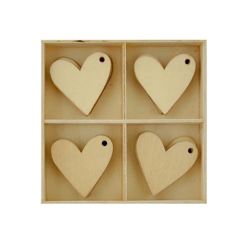 Kaisercraft Lucky Dip Wood Embellishement Pack Hearts