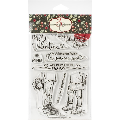 Colorado Craft Company Lovely Legs Stamp Be My Valentine