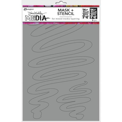 Dina Wakley Media Stencil & Mask Meandering