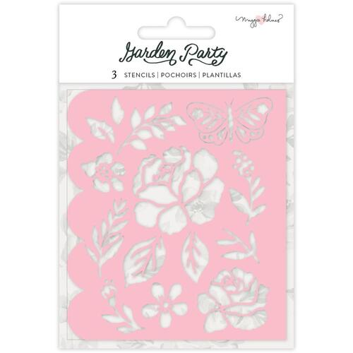 Maggie Holmes Garden Party Flower Builder Stencils