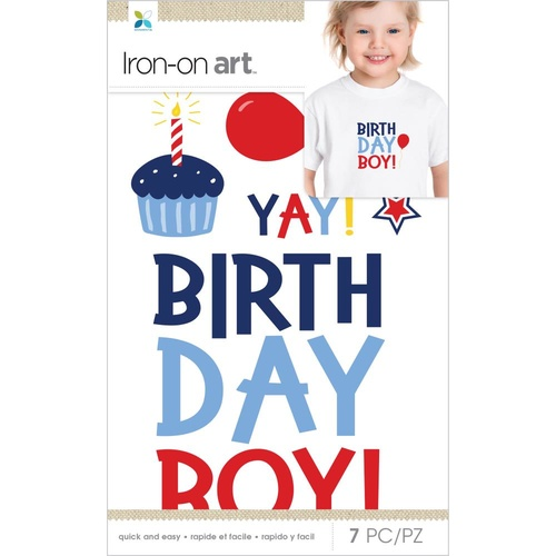 Momenta Iron On Applique Birthday Boy