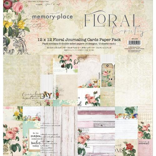 "Memory Place Floral Tapestry 12"" Journaling Card Paper Collection Pack"