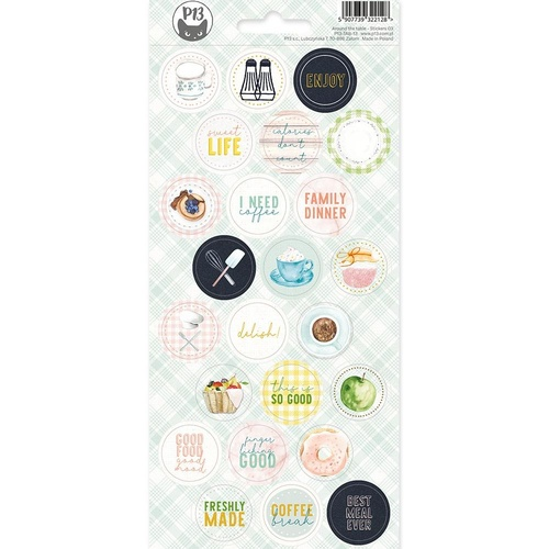 P13 Around the Table Cardstock Stickers #03