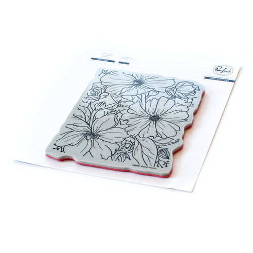 PinkFresh Studio Floral Focus Cling Stamp