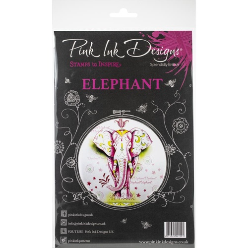 Pink Ink Designs Stamp Elephant