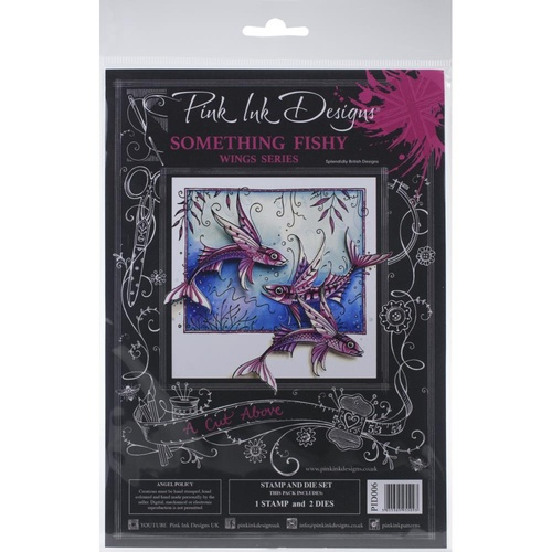 Pink Ink Designs A Cut Above Stamp & Die Set Something Fishy