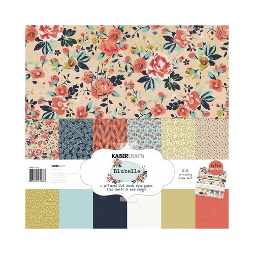 "Kaisercraft Blu Belle 12x12"" Paper Pack with Bonus Sticker Sheet"