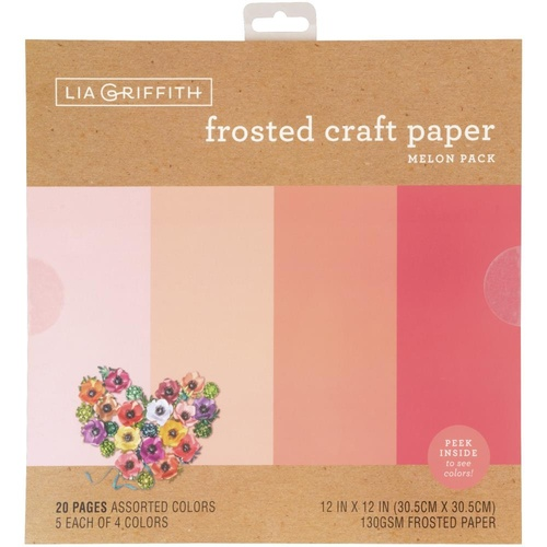 "Lia Griffith 12"" Frosted Craft Paper Melon"