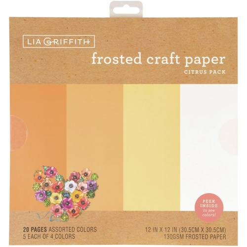 "Lia Griffith 12"" Frosted Craft Paper Citrus"