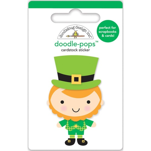 Doodlebug DoodlePops 3D Stickers Pot O'Gold Leprechaun