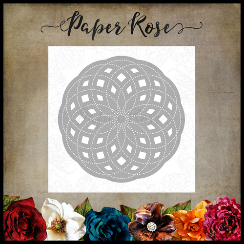 Paper Rose Die Circlet Layered Background #3