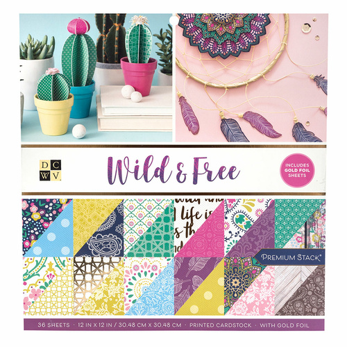 "DCWV 12"" Paper Pad Wild and Free"