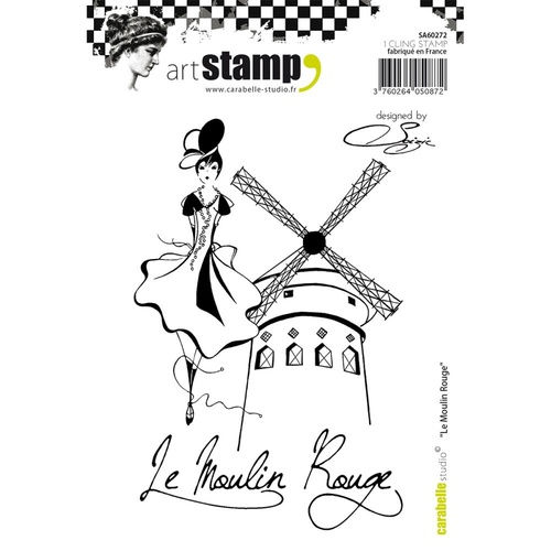 Carabelle Studio Cling Stamp A6 Le Moulin Rouge by Soizic