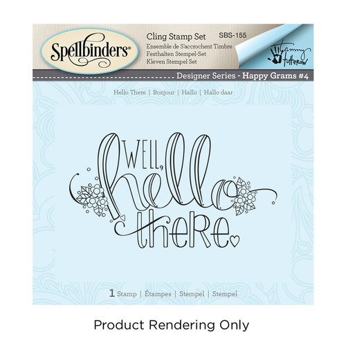 Spellbinders Happy Grams Cling Stamp Hello There by Tammy Tutterow