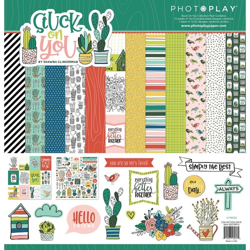 "PhotoPlay Paper Stuck on You 12x12"" Collection Pack"