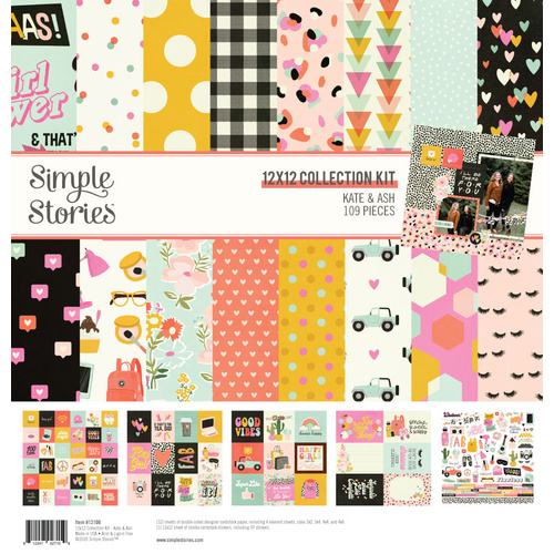 "Simple Stories Kate & Ash 12"" Collection Kit"