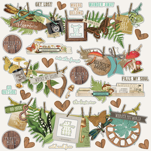 Simple Stories Simple Vintage Great Escape Banner Stickers