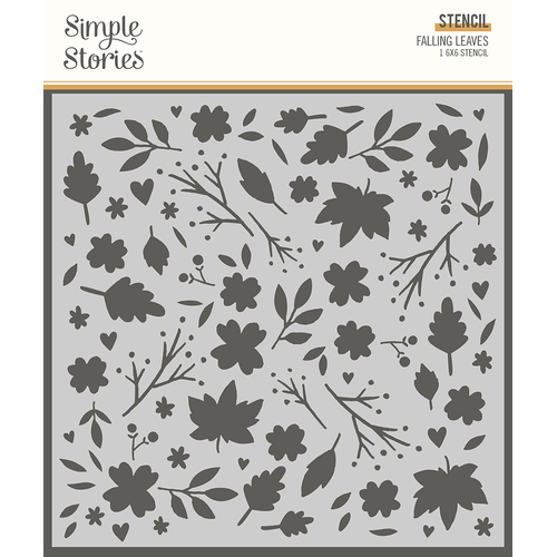 Simple Stories Cozy Days Stencil Falling Leaves